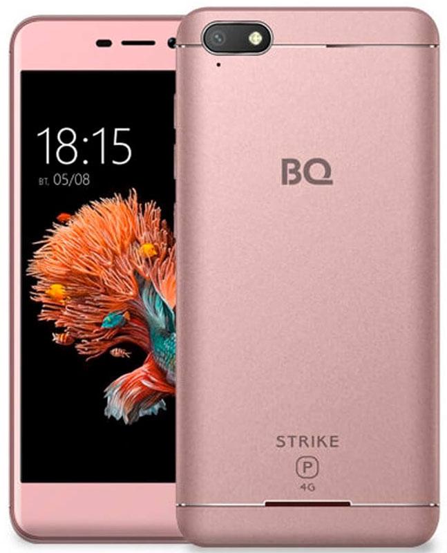 BQ 5037 Strike Power 4G, Rose Gold85952840BQ Mobile представляет новый смартфонBQ-5037 Strike Power 4G.Встречайте первый смартфон из легендарной линейки Strike, созданный для работы в сетях четвертого поколения - 4G. Отныне серфинг в интернете, просмотр и загрузка файлов станут гораздо быстрее.За эффективную и скоростную обработку поступающих запросов отвечает четырехъядерный процессор с тактовой частотой1100 МГц. Надежную и проверенную временем ОС Android 6.0 отличает отточенный и интуитивно понятный пользовательский интерфейс и стабильная работа всех современных приложений.Изогнутый 2,5D дисплей, созданный с применением технологии oncell, обеспечивает мгновенный отклик на касание и отсутствие искажений изображения.Мощный аккумулятор емкостью 4000 мАч продлевает работу устройства до нескольких дней, позволяя не думать в поездках о зарядке смартфона.Две камеры 13 и 5 мегапикселей не только помогут вам сделать хорошие снимки, но и принеобходимости осуществить видеозвонок или провести трансляцию.Телефон сертифицирован EAC и имеет русифицированный интерфейс меню и Руководство пользователя.