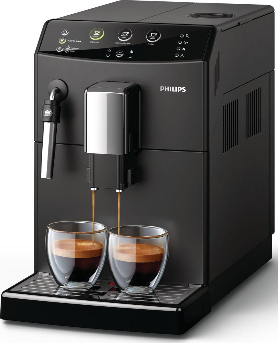 Philips HD8827/09 кофемашинаHD8827/09Превосходный кофе из свежих зерен одним нажатием кнопки. Высокая вместимость и компактный размер. Автоматическая кофемашина Philips серии 3000 позволяет наслаждаться эспрессо и классическим кофе из свежих зёрен - требуется лишь одно нажатие кнопки. Готовьте великолепный капучино за считаные секунды, используя классический капучинатор, который бариста называют панарелло. Он используется для приготовления деликатной молочной пены для вашего капучино с помощью пара. Выбор объёма напитка, 2 настройки крепости и 5 степеней помола. Почувствуйте себя бариста - готовьте вкусные молочные напитки традиционным способом. Большие возможности в компактном решении!