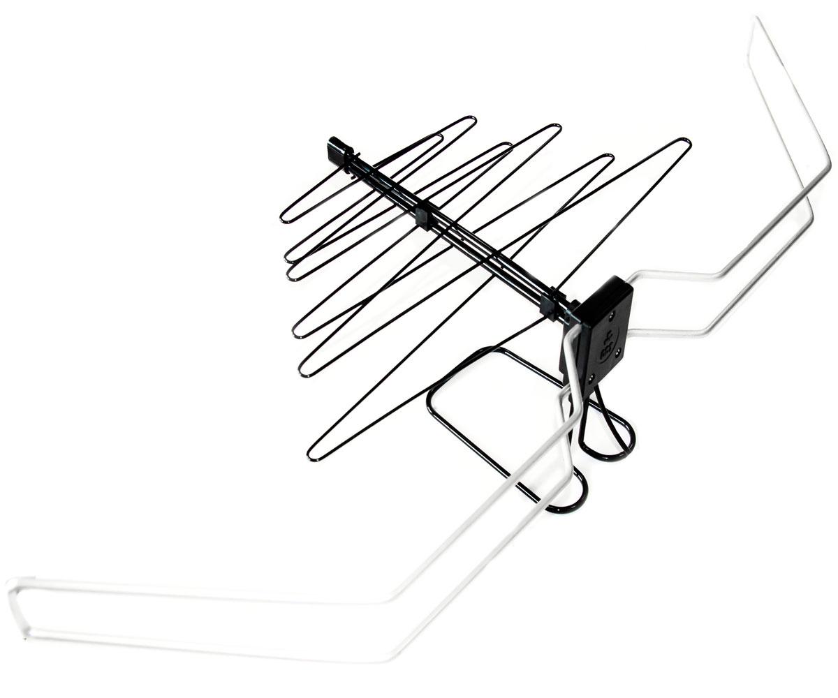 Дельта К331А.02 12V комнатная ТВ-антенна (активная)7163Комнатная телевизионная антенна индивидуального пользования Дельта К331А.02 предназначена для приёма телевизионных программ, транслируемых во всех диапазонах частот на любом телевизионном вещательном канале. Надежность антенны обеспечивается сборкой и испытанием наиболее ответственных узлов у изготовителя. Повышенная безопасность конструкции – за счет гнутых и скругленных элементов без острых углов и кромок.Встроенные в антенну Дельта К331А.02 раздельные для метрового и дециметрового диапазонов усилители улучшают качество приема слабых телевизионных сигналов. Повышенная длина кабеля расширяет возможности размещения антенны в интерьере помещения, располагая ее в точке наилучшего приема.