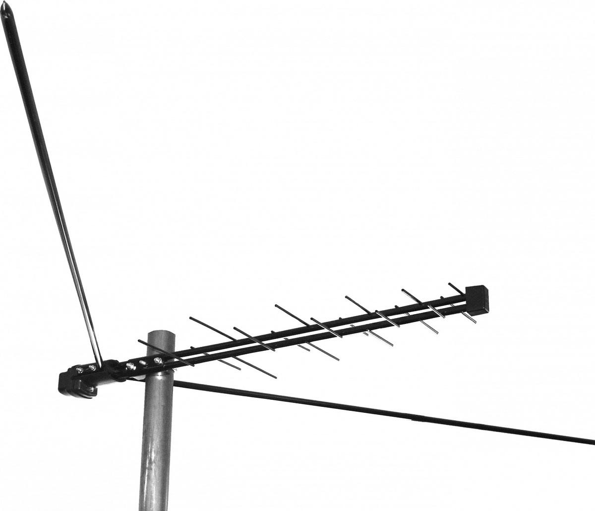 Дельта Н311А.02 12V уличная антенна (активная)14874Дельта Н311А.02 - комбинированная антенна, у которой в единой конструкции объединены две антенны: одна - диапазонный симметричный вибратор метрового диапазона волн и вторая - широкополосная логопериодическая антенна дециметрового диапазона волн.Электрические части и крепежные элементы изготовлены из стали. Защитно-декоративное покрытие толщиной 70-100 мкм обеспечивается эпоксидно-полиэфирными порошковыми красками. Скобы и гайки крепления к мачте, шпилька и гайка заземления имеют цинковое покрытие. При сборке метровые вибраторы устанавливаются на предусмотренные в антенной коробке элементы крепления.Габаритные размеры антенны: 83,3 см х 195 см