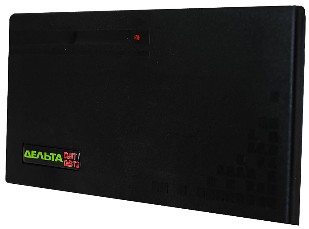 Дельта Цифра 5V комнатная ТВ-антенна (активная)14862Антенна Дельта Цифра предназначена для приёма телевизионных программ в ДМВ-диапазоне цифрового телевещания через приставку DVB-T2. Рассчитана для работы в интервале температур от 5 до 35 °С и предельном значении относительной влажности воздуха 80% при 25 °С.Антенна укомплектована усилителем для повышения уровня сигнала и компенсации его затухания в кабеле антенны. Антенный усилитель не имеет собственного источника и рассчитан на питание 5 В, подводимое по кабелю антенны от источника, встроенного в цифровую приставку DVB-T2.