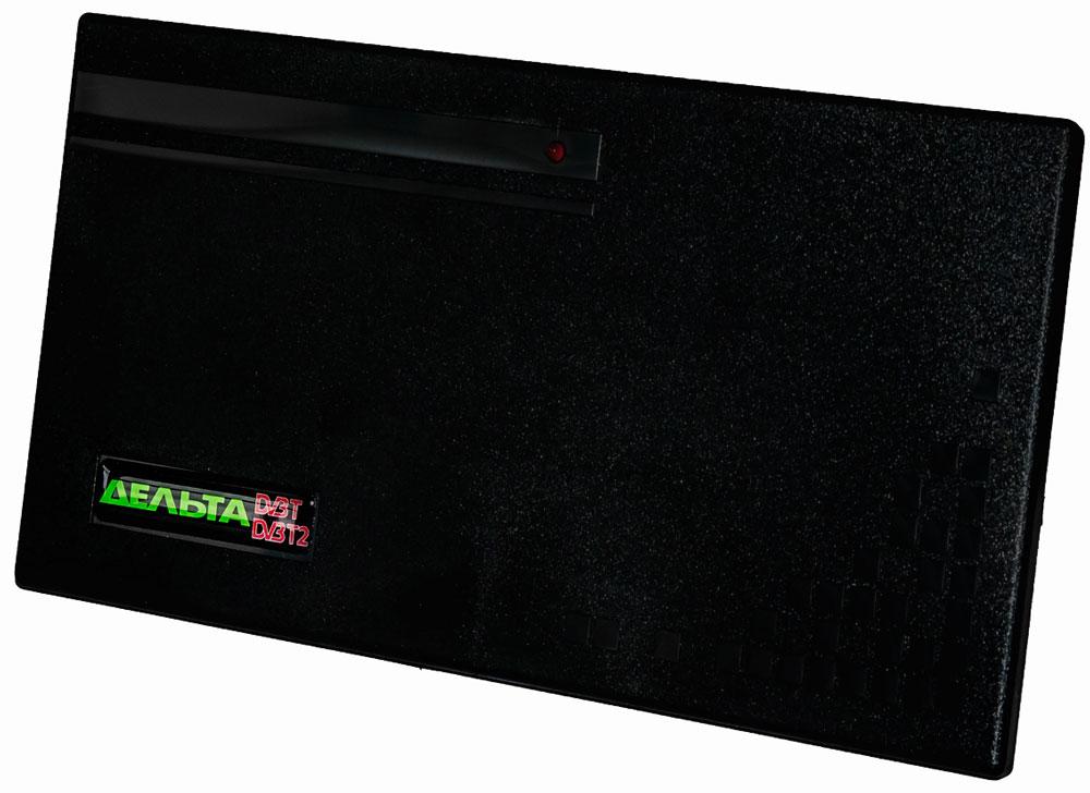 Дельта Цифра Max 5V комнатная ТВ-антенна (активная)14944Антенна Дельта Цифра Max предназначена для приёма телевизионных программ в ДМВ-диапазоне цифрового телевещания через приставку DVB-T2. Рассчитана для работы в интервале температур от 5 до 35 °С и предельном значении относительной влажности воздуха 80% при 25 °С.Антенна укомплектована усилителем для повышения уровня сигнала и компенсации его затухания в кабеле антенны. Антенный усилитель не имеет собственного источника и рассчитан на питание 5 В, подводимое по кабелю антенны от источника, встроенного в цифровую приставку DVB-T2.