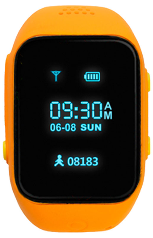 MyRope R12, Orange умные часы с GPS-трекеромR12-ORANGEMyRope R12 — это умные детские часы, которые позволят родителям всегда оставаться на связи со своим чадом. Точный датчик GPS и возможность установки сим-карты дают возможность в реальном времени узнавать о передвижениях ребенка, а также связаться с ним в случае необходимости.Часы доступных в двух ярких цветовых вариантах – голубом и розовом. На лицевой стороне расположены экран, динамик и небольшое отверстие для микрофона. Слева можно обнаружить слот под микро сим-карту, а также кнопку включения/SOS, справа – функциональная кнопка приема вызова и кнопка голосового чата.MyRope R12 созданы для того, чтобы вы всегда оставались на связи с ребенком. Вы можете совершить вызов или отправить голосовое сообщение на часы (совершать звонки могут только те номера, что внесены в список контактов часов). К тому же один из родителей может воспользоваться функций скрытого одностороннего звонка, чтобы услышать, что происходит поблизости ребенка.Будьте уверены в безопасности вашего чада, благодаря функции безопасных зон. С помощью специального мобильного приложения можно установить до 10 безопасных зон с диаметром от 500 до 2000 м. В случае, если ребенок покинет или войдет в безопасную зону, сработает уведомление. Также в часах присутствует кнопка SOS, при нажатии на которую более 3-х секунд, активирует вызов на экстренный номер телефона.При помощи встроенного в часы датчика GPS можно моментально узнать о местоположении вашего ребенка на улице, а наличие Wi-Fi модуля позволит с максимальной точностью определять положение ребенка в закрытых пространствах. А также можно просмотреть историю его перемещений за любую дату в приложении.