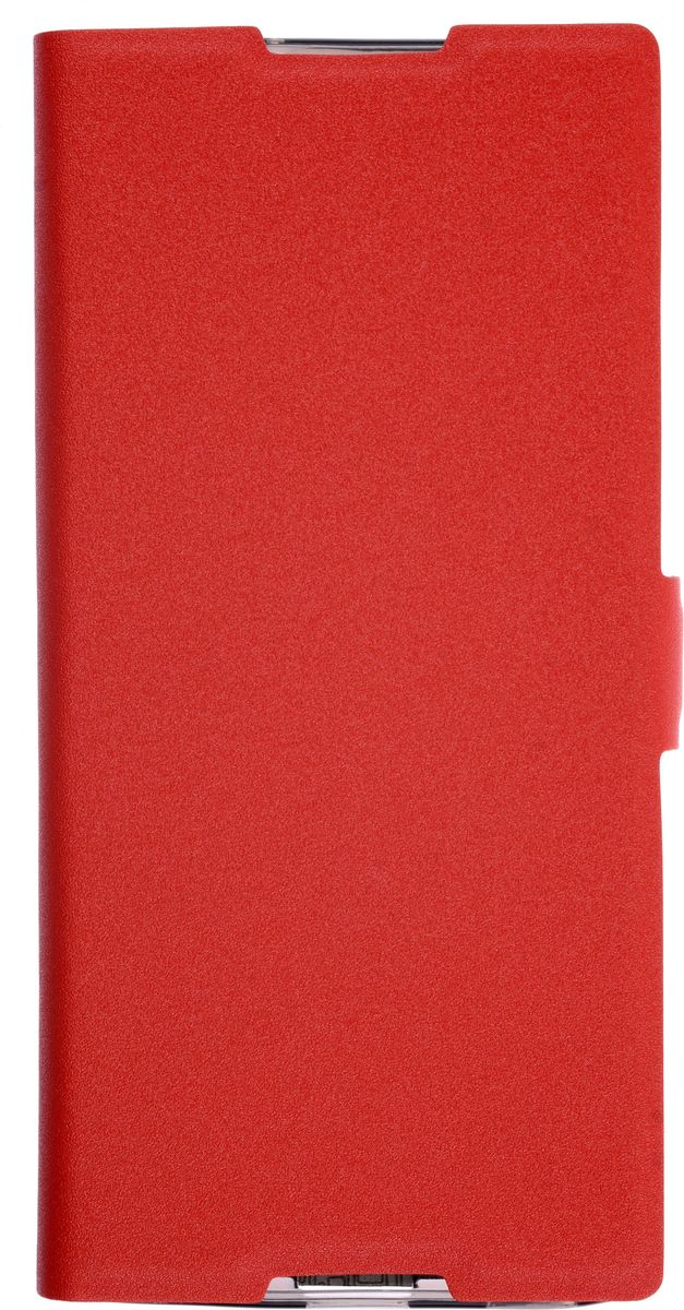 Prime Book чехол для Sony Xperia XA, Red2000000134048Чехол надежно защищает ваш смартфон от внешних воздействий, грязи, пыли, брызг. Он также поможет при ударах и падениях, не позволив образоваться на корпусе царапинам и потертостям. Чехол обеспечивает свободный доступ ко всем функциональным кнопкам смартфона и камере.
