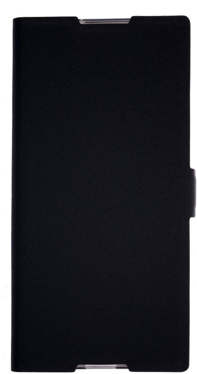 Prime Book чехол для Sony Xperia XA, Black2000000134055Чехол надежно защищает ваш смартфон от внешних воздействий, грязи, пыли, брызг. Он также поможет при ударах и падениях, не позволив образоваться на корпусе царапинам и потертостям. Чехол обеспечивает свободный доступ ко всем функциональным кнопкам смартфона и камере.