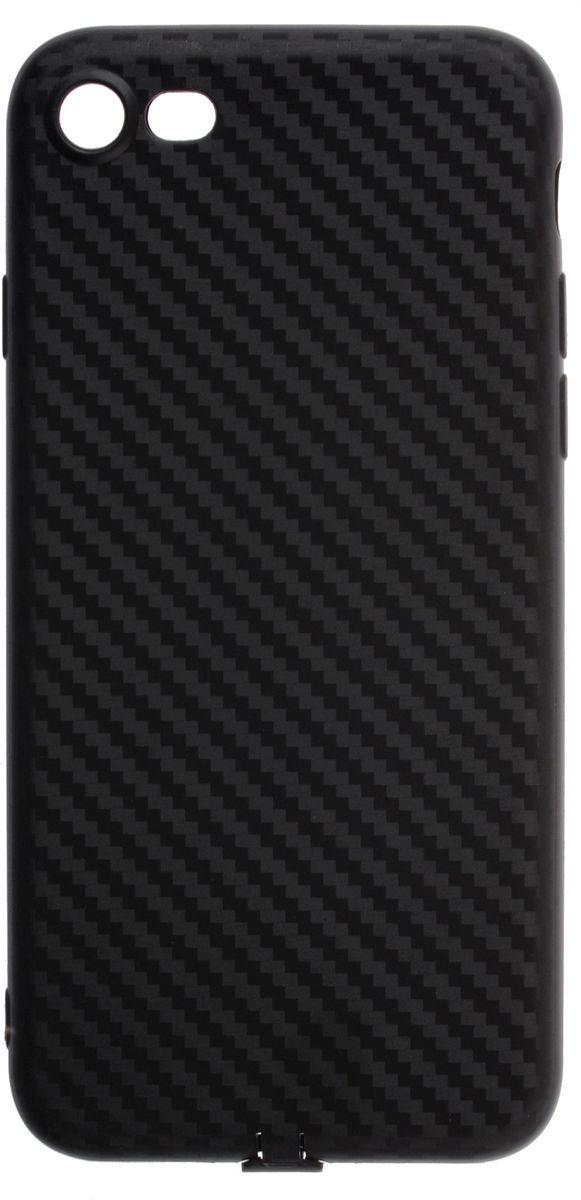 Skinbox Silicone Carbon чехол для Apple iPhone 7, Black2000000139920Чехол надежно защищает ваш смартфон от внешних воздействий, грязи, пыли, брызг. Он также поможет при ударах и падениях, не позволив образоваться на корпусе царапинам и потертостям. Чехол обеспечивает свободный доступ ко всем функциональным кнопкам смартфона и камере.