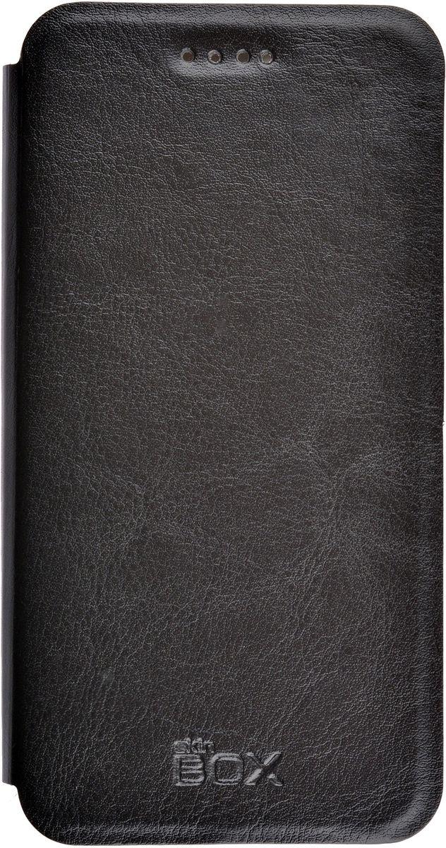 Skinbox Lux чехол Apple iPhone 7, Black2000000107400Чехол надежно защищает ваш смартфон от внешних воздействий, грязи, пыли, брызг. Он также поможет при ударах и падениях, не позволив образоваться на корпусе царапинам и потертостям. Чехол обеспечивает свободный доступ ко всем функциональным кнопкам смартфона и камере.