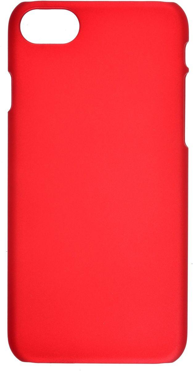 Skinbox 4People чехол для Apple iPhone 7, Red (с защитной пленкой)2000000107042Чехол надежно защищает ваш смартфон от внешних воздействий, грязи, пыли, брызг. Он также поможет при ударах и падениях, не позволив образоваться на корпусе царапинам и потертостям. Чехол обеспечивает свободный доступ ко всем функциональным кнопкам смартфона и камере.