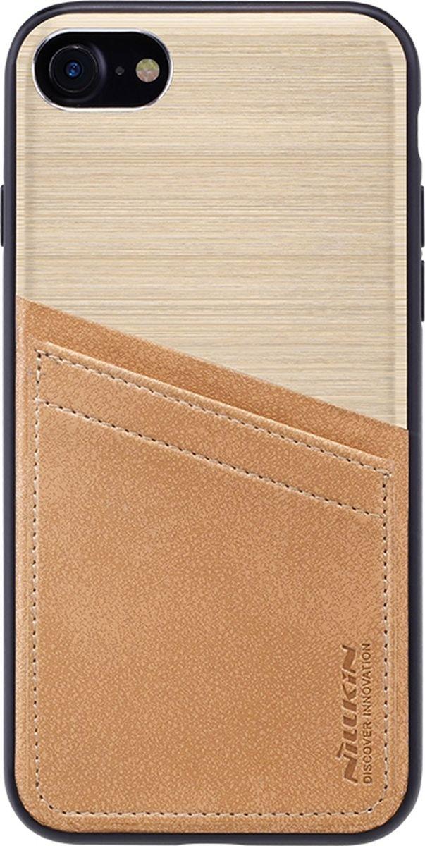 Nillkin Classy Case чехол для Apple iPhone 7, Gold2000000125107Чехол надежно защищает ваш смартфон от внешних воздействий, грязи, пыли, брызг. Он также поможет при ударах и падениях, не позволив образоваться на корпусе царапинам и потертостям. Чехол обеспечивает свободный доступ ко всем функциональным кнопкам смартфона и камере.