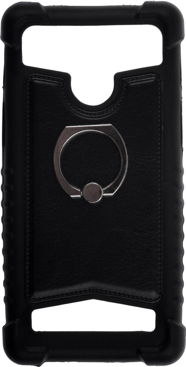 Skinbox Universal чехол для смартфонов 4-4.5, Black2000000137292Чехол надежно защищает ваш смартфон от внешних воздействий, грязи, пыли, брызг. Он также поможет при ударах и падениях, не позволив образоваться на корпусе царапинам и потертостям. Чехол обеспечивает свободный доступ ко всем функциональным кнопкам смартфона и камере.