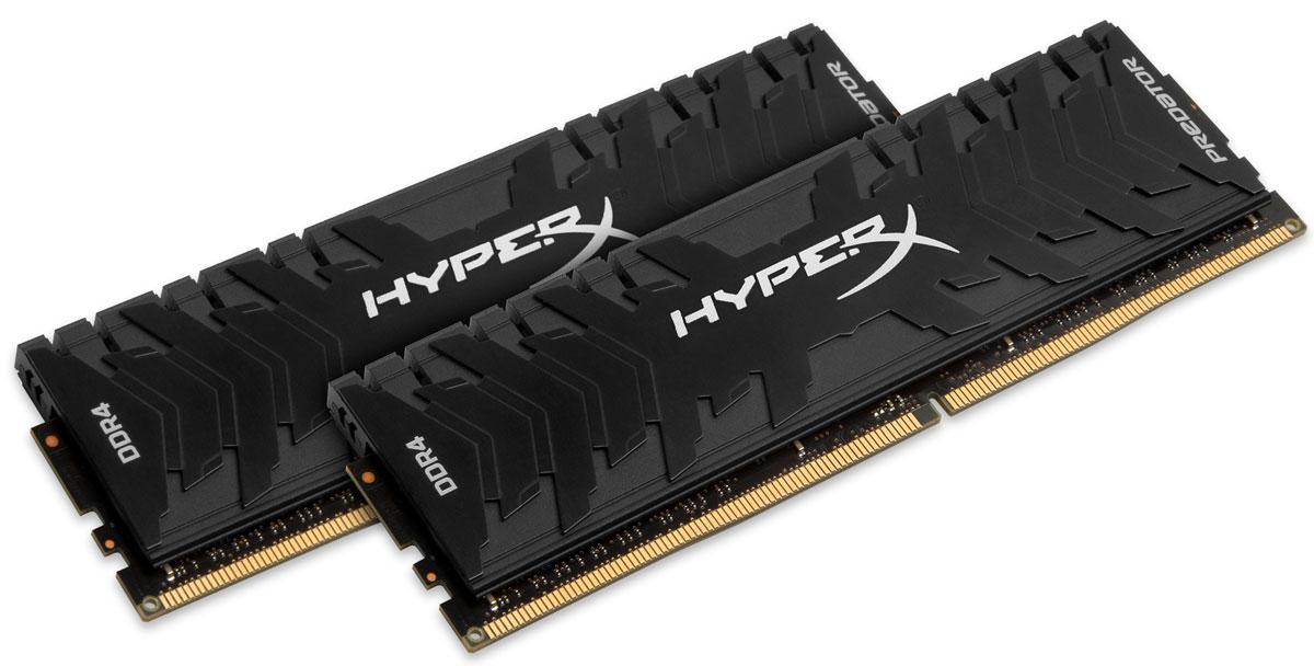 Kingston HyperX Predator DDR4 2х8Gb 2400 МГц комплект модулей оперативной памяти (HX424C12PB3K2/16)HX424C12PB3K2/16Обеспечьте высокую скорость работы вашего ПК на базе процессора AMD или Intel с помощью модулей памяти HyperX Predator DDR4. Посейте страх в сердцах своих соперников с помощью агрессивного теплоотвода Predator DDR4 в стильном черном цвете. Благодаря частоте 2400 МГц и таймингам CL12-CL17, вы сможете запускать на вашей системе современные компьютерные игры, выполнять редактирование видео и осуществлять потоковое вещание.Профиль Intel XMP оптимизирован для новейших чипсетов Intel - для максимальной скорости работы вам нужно просто выбрать соответствующий профиль. Благодаря 100% заводскому тестированию на рабочей частоте и 10 летней гарантии, надежные модули памяти Predator DDR4 обеспечивают оптимальное сочетание высокой производительности и максимальной уверенности.JEDEC: DDR4-2400 CL17-17-17 1.2VXMP Profile #1: DDR4-2400 CL12-14-14 1.35V