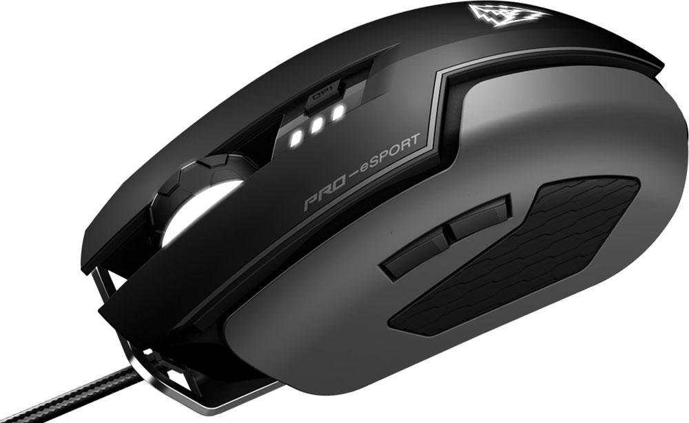 ThunderX3 TM60 Pro E-Sports игровая мышьTM60Сменные накладки двух типов ThunderX3 ТM60обеспечивают максимальное сцепление руки с мышкой, чтобы можно было с легкостью затащить сто каток подряд.Чипсет сенсора 9800, обладает одним самым большим разнообразием настроек. Доступны настройки DPI, разрешения, осей X-Y, сглаживания угла и даже времени на сон и пробуждение для удовлетворения любых потребностей игрока. Этот сенсор сконструирован для достижения наивысшего качества работы во время игровых сессий.Также как и важна надежность переключателей, важна надежность и удобство механизма скроллинга для таких игр как MOBA, MMORPG, FPS или для длительной работы с документами и просмотра веб-сайтов.Корпус игровой мыши ThunderX3 TM60 выполнен из высококачественного матового софт-тач пластика. Обеспечивает гладкое и приятное касание, помогает избежать скольжение ладони от пота при долгих игровых сессиях.Позолоченный разъем ThunderX3 TM60 обеспечивают наилучшее соединение, отличную передачу данных и длительный срок службы.Качественные тефлоновые ножки игровой мыши ThunderX3 TM60 обеспечивают идеальное и плавное скольжение на любой поверхности. Не оставляют следов и царапин на коврике. В комплект входят дополнительные тефлоновые ножки.Интенсивный скроллинг во время напряженной игры может быть дискомфортным и быстро утомить. Колесо прокрутки ThunderX3 TM60 имеет ширину 10 мм, прочную конструкцию, прорезиненную поверхность и удобный протектор, чтобы с ювелирной точностью дозировать усилие и движение на колесике, не теряя при этом в комфорте.Игровая мышь ThunderX3 TM60 идеальна для игроков PRO-уровня. Сверхточный лазерный сенсор с разрешением 16000 DPI передает все движения мыши с невероятной точностью.Основа из шлифованного алюминия не только придает модели крутой внешний вид, но и позволяет добиться идеальной развесовки, максимально сокращая влияние на баланс мыши, начинки и корпусных панелей. А идеальный баланс позволяет выполнять даже самые резкие движения с максимальной точность