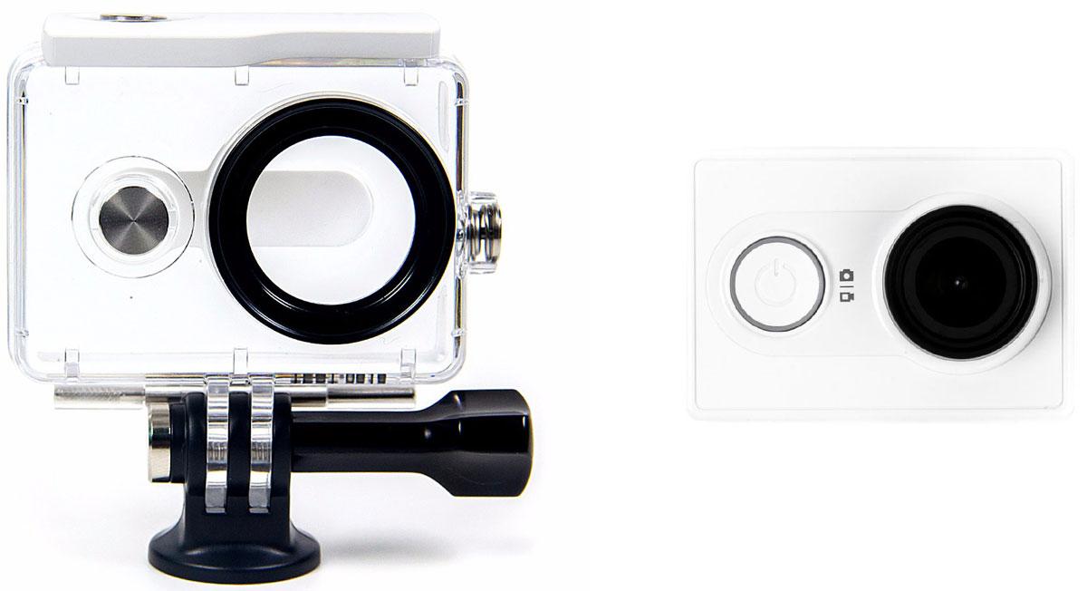 Xiaomi YI Basic, White экшн-камера + водонепроницаемый бокс - Цифровые видеокамеры