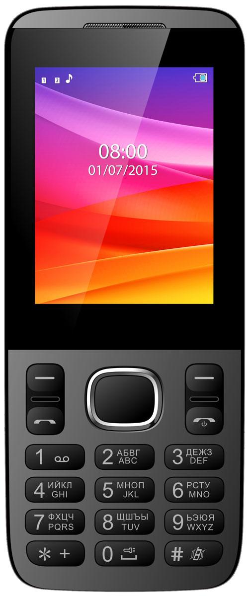 Vertex D503, BlackD503-BLVertex D503 - мобильный телефон для повседневного использования.Изогнутый корпус для наилучшей эргономики - удобно и приятно держать в руке.Яркий цветной экран 2,4 и удобная клавиатура обеспечивают комфортное использование.Данная модель имеет поддержку работы 2-х SIM-карт - чтобы всегда оставаться на связи. Одновременная работа двух SIM-карт позволяет просто и удобно совместить личный и рабочий номер в одном телефоне.Слушайте самые горячие музыкальные хиты и любимые мелодии с помощью встроенного аудиоплеера. Или переключитесь на FM-радио. Телефон сертифицирован EAC и имеет русифицированную клавиатуру, меню и Руководство пользователя.