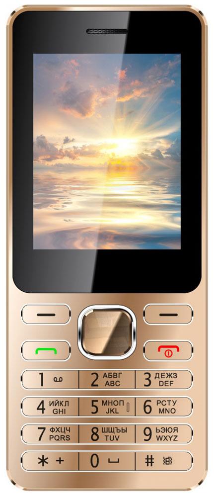 Vertex D508, Gold MetallicD508-GMETМобильный телефон Vertex D508 имеет стильный металлический корпус и закаленное стекло.Корпус модели выполнен из металла, благодаря чему телефон менее подвержен повреждениям. При этом толщина корпуса всего 8 мм.Благодаря закаленному стеклу дисплей телефона менее подвержен царапинам и сколам. Можно смело носить телефон в кармане или сумке, не боясь повредить экран.Яркий большой экран и стильная монолитная клавиатура придают телефону изящности, превращая его в модный аксессуар.Одновременная работа двух SIM-карт позволяет просто и удобно совместить личный и рабочий номер в одном телефоне.Слушайте самые горячие музыкальные хиты и любимые мелодии с помощью встроенного аудиоплеера. Или переключитесь на FM-радио. Телефон сертифицирован EAC и имеет русифицированную клавиатуру, меню и Руководство пользователя.
