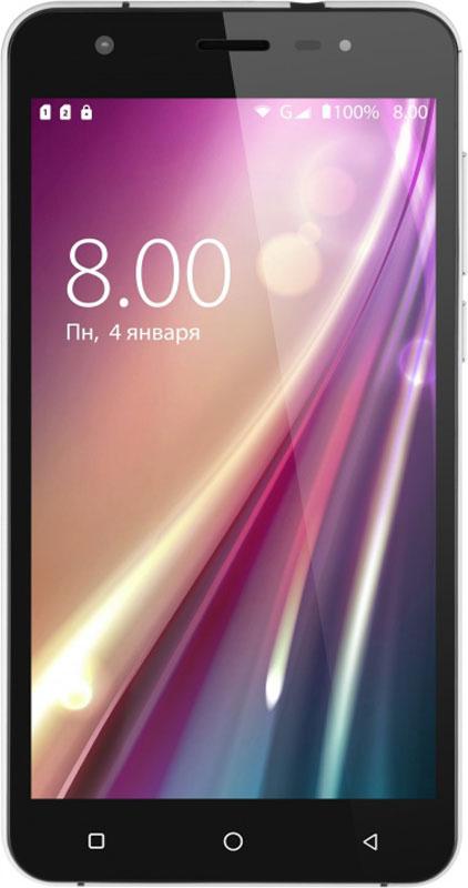 Vertex Impress Eagle, GraphiteEAGLE-GRVertex Impress Eagle - яркий 3G смартфон с HD дисплеем и мощным аккумулятором.Корпус смартфона выполнен в лаконичном дизайне. Плавные линии и экран со скругленными краями подчеркивают элегантность модели. Корпус защищен металлической рамкой для большей прочности смартфона.Толщина корпуса всего 8 мм. Выполнен в двух цветах: сдержанный графит и благородное золото.Большой и яркий IPS дисплей дополняет изящный образ смартфона и позволяет максимально комфортно использовать возможности модели. Экран защищен 2.5D стеклом, которое имеет закругленные края. Это позволяет более комфортно использовать сенсорный экран, и делает смартфон более приятным на ощупь.Благодаря 4-х ядерному процессору модель Impress Eagle отлично подходит для решения различных повседневных задач. Мощность процессора обеспечивает качественную работу операционной системы и установленных приложений.Смартфон оснащен 1 Гб оперативной памяти и 8 Гб встроенной, что позволяет эффективно использовать возможности интерфейса: Интернет, игры, приложения, фото и видео съемка, электронные книги и прочие дополнительные smart-функции.Для повышения работоспособности смартфона и увеличения объема памяти можно использовать MicroSD карт емкостью до 32Гб.Наличие двух камер 8 Мпикс и 5 Мпикс дает возможность делать фото, снимать видео, совершать видеозвонки, общаться в Skype и т.д. Дополнительные преимущества основной камеры: автофокус и светодиодная вспышка.Для того, чтобы вы смогли всегда оставаться на связи модель Impress Eagle поддерживает работу двух SIM-карт, активных в режиме ожидания. Благодаря этому можно использовать возможности сразу двух операторов связи так, как удобно вам.Телефон сертифицирован EAC и имеет русифицированный интерфейс меню и Руководство пользователя.