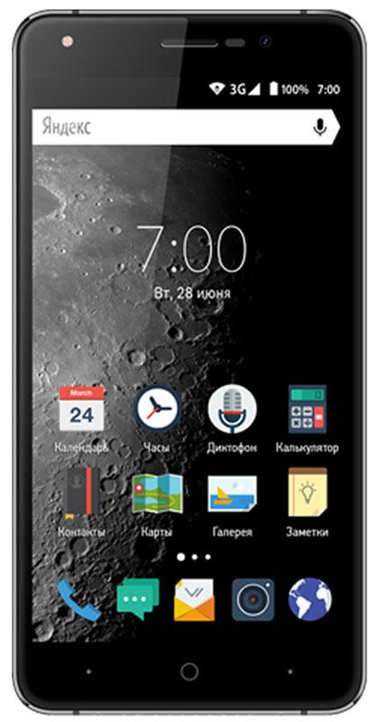 Vertex Impress Moon, GraphiteMOON-GRVertex Impress Moon - функциональный 3G смартфон с большим HD дисплеем.Корпус модели Impress Moon имеет металлическую рамку для большей надежности и защищенности смартфона. Дизайн корпуса сдержанный и лаконичный с плавными линиями и продуманными элементами.Большой яркий IPS экран размером 5,5 дюймов с разрешением HD позволяет максимально комфортно использовать возможности смартфона.Экран защищен 2.5D стеклом, которое имеет закругленные края. Это позволяет более комфортно использовать сенсорный экран без опаски порезаться об острые углы. Благодаря сглаженным краям экрана смартфон выглядит эстетично и максимально приятен на ощупь.Благодаря 4-х ядерному процессору модель Impress Moon отлично подходит для решения различных повседневных задач. Мощность процессора обеспечивает качественную работу операционной системы и установленных приложений. С возможностью расширения встроенной памяти при помощи карты microSD развлечения и работа становятся комфортнее: игры, книги, рабочие программы в вашем смартфоне.Наличие двух камер 8 МП и 5 МП дает возможность делать фото, снимать видео, совершать видеозвонки, общаться в Skype и т.д. Дополнительные преимущества основной камеры: автофокус и светодиодная вспышка.Операционная система Android 6.0 Marshmallow и сервис Google Play предлагает огромный выбор приложений на любой вкус. Игры, музыка, социальные сети, навигационные карты, фото приложения и многое другое.Высокоскоростной 3G мобильный Интернет поддерживает мгновенную загрузку данных. Интернет-серфинг еще удобнее!Смартфон оснащен 1 ГБ оперативной памяти и 8 ГБ встроенной, что позволяет эффективно использовать возможности интерфейса: Интернет, игры, приложения, фото и видео съемка, электронные книги и прочие дополнительные smart-функции. Для того, чтобы вы смогли всегда оставаться на связи модель Impress Moon поддерживает работу двух SIM-карт, активных в режиме ожидания. Благодаря этому можно использовать возможности сразу двух операторов связи 