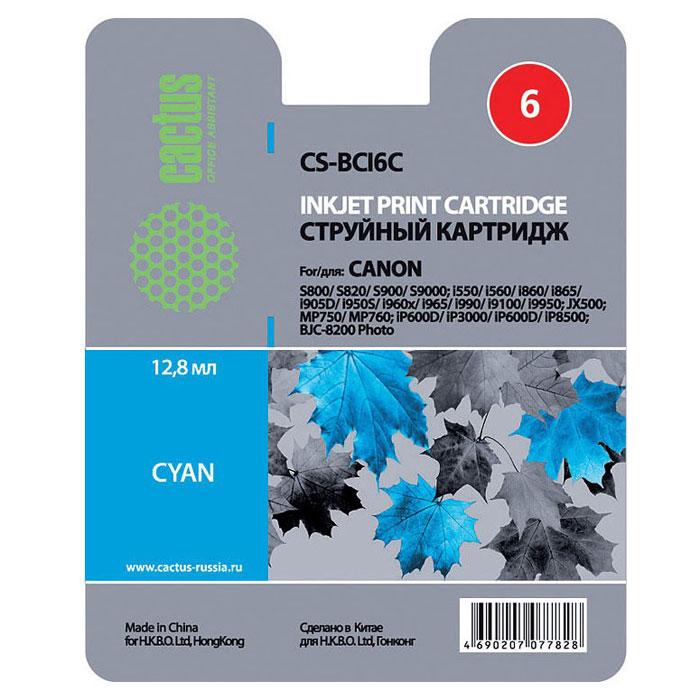 Cactus CS-BCI6C, Cyan картридж струйный для Canon S800/S820/S9000/i550/i860/i905D/i950S/i9100/JX500/MP750/iP600D/BJC-8200 PhotoCS-BCI6CКартридж Cactus CS-BCI6C для струйных принтеров Canon S800/S820/S9000/i550/i860/i905D/i950S/i9100/JX500/MP750/iP600D/BJC-8200 Photo.Расходные материалы Cactus для печати максимизируют характеристики принтера. Обеспечивают повышенную четкость изображения и плавность переходов оттенков и полутонов, позволяют отображать мельчайшие детали изображения. Обеспечивают надежное качество печати.