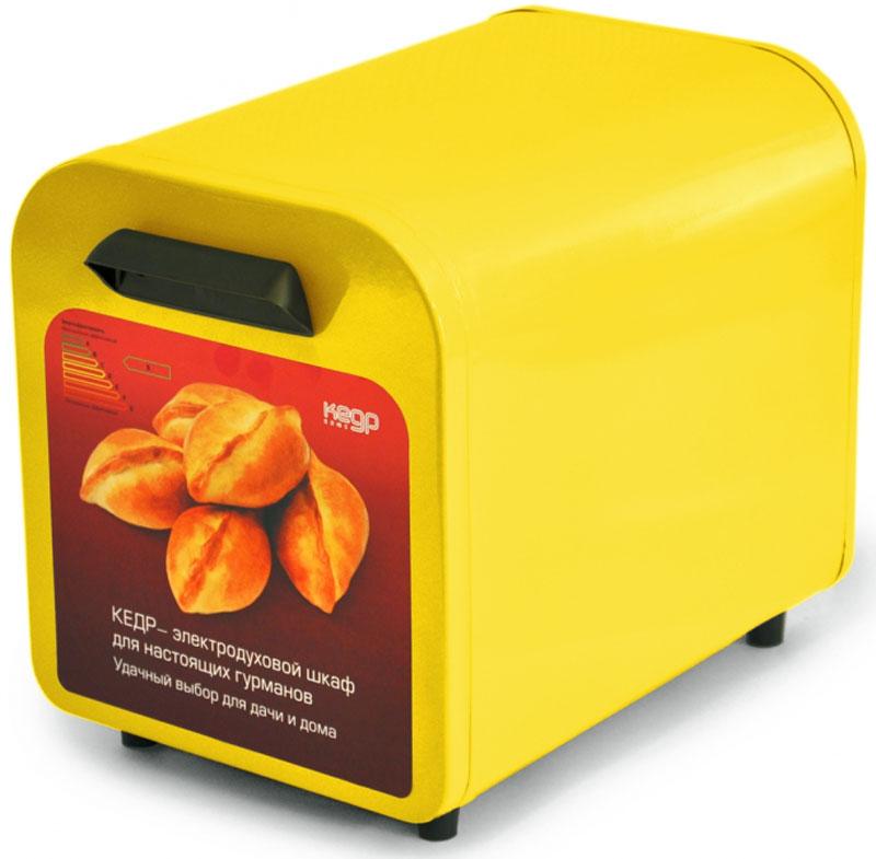 Кедр ШЖ-0,625/220 жарочный шкаф, цвет желтыйКедр ШЖ- 0,625/220Жарочный шкаф Кедр предназначен для выпечки в домашних условиях различных изделий из теста, а также для запекания картофеля и приготовления блюд из мяса, птицы, рыбы. Такжев нем можно сушить ягоды, грибы и фрукты. Идеален для использования дома, на даче или в гараже.Этот жарочный шкаф отличается низким энергопотреблением - всего 0,625 кВт, что обеспечивает значительную экономию электроэнергии по сравнению с микроволновой печью и бесперебойную работу в условиях нестабильного электроснабжения в сельскойместности, имеет большой срок службы - до 20-ти лет. Но, пожалуй, главная его особенность и уникальность заключается в том, что он создает эффект русской печи. Так происходит, потому что тепло по всему периметру жарочного шкафа распределяется равномерно и как бы окутывает блюдо со всех сторон. В процессе приготовления еды не задействованы микроволны, о вреде которых идет так много споров. А, значит, жарочный шкаф Кедр составит хорошую альтернативу микроволновке.Высокие вкусовые качества приготовленных блюдУвеличенный срок службы (до 20 лет)Гарантийный срок - 24 месяцаНизкое энергопотреблениеОтсутствие микроволнЛегкость и простота эксплуатацииВремя разогрева до температуры 250°С - не более 20 минутВнутренние размеры: 315 x 205 x 205 ммМатериал корпуса: металл