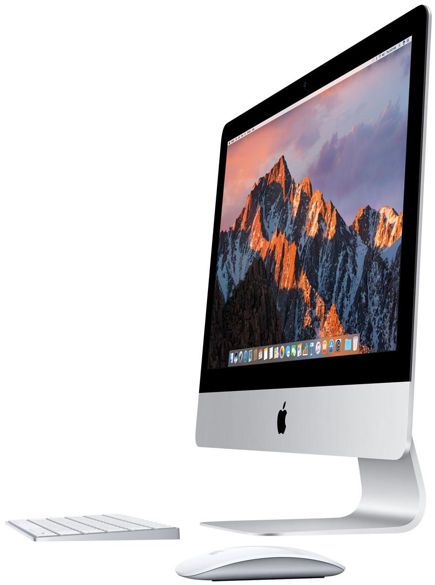 Apple iMac 21.5 (MMQA2RU/A) моноблокMMQA2RU/AМоноблок Apple iMac 21,5.Совершенно новые процессоры, инновационные графические технологии, передовые накопители и разъёмы с впечатляющей пропускной способностью - всё это новый iMac. А его дисплей Retina способен оживить любую картинку, ведь по яркости и качеству цветопередачи ему нет равных среди iMac. Работать на iMac теперь ещё интереснее и увлекательнее.Компьютеры iMac стали ещё быстрее и мощнее. Они оснащены процессорами Intel Core i5 и i7 седьмого поколения и новейшими высокопроизводительными графическими процессорами. Системы хранения тоже вышли на новый уровень: высокоскоростной и ёмкий накопитель Fusion Drive теперь по умолчанию устанавливается на модели 21,5 дюйма и 27 дюймов с дисплеем Retina. Вы можете делать на iMac всё, что вам нравится, - на максимальной скорости.Все модели iMac оснащены совершенно новыми процессорами Intel Core 7-го поколения. Скорость iMac поражает: модель 27 дюймов работает с частотой до 4,2 ГГц, модель 21,5 дюйма - до 3,6 ГГц. А когда вы используете такие ресурсоёмкие приложения, как Logic Pro и Final Cut Pro, технология Turbo Boost ускоряет процессор ещё больше. Это происходит незаметно, но разница ощутима.В хранении данных в первую очередь важен объём дискового пространства. Но не будем забывать и о скорости. Накопитель Fusion Drive сочетает в себе оба этих преимущества. Приложения и файлы, которыми вы пользуетесь чаще всего, автоматически сохраняются на быстром флеш-накопителе, а всё остальное перемещается на жёсткий диск большой ёмкости. С накопителем Fusion Drive любые действия - от загрузки компьютера до запуска приложений и импорта фотографий - будут выполняться быстрее и эффективнее.Вы только посмотрите на дисплей Retina нового iMac. Более миллиарда цветов и яркость 500 кд/м2 - изображение буквально оживает и предстаёт в новом цвете. Плотность пикселей настолько высока, что вы не сможете их различить. А чёткий контрастный текст в документах и письмах радует глаз. Ну что сказать