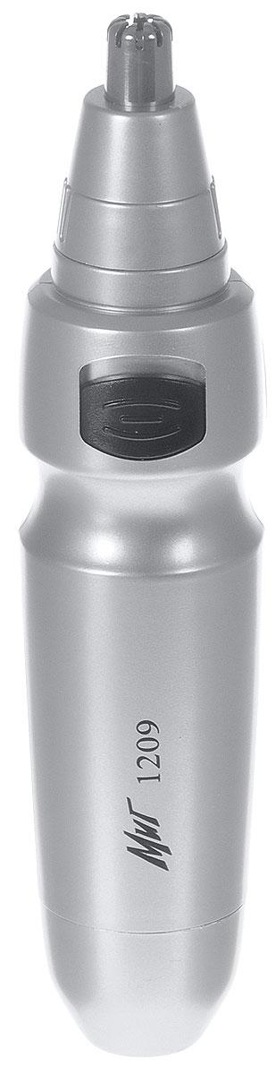 МИГ 1209 триммер для носа и ушей1209Триммер МИГ 1209 предназначен для удаления волос в носу и ушах.Прибор имеет компактные размеры и вес. В комплект входят две насадки. Питание - 1,5 В (1 элемент питания тип АА- в комплект не входит). Не моющийся.