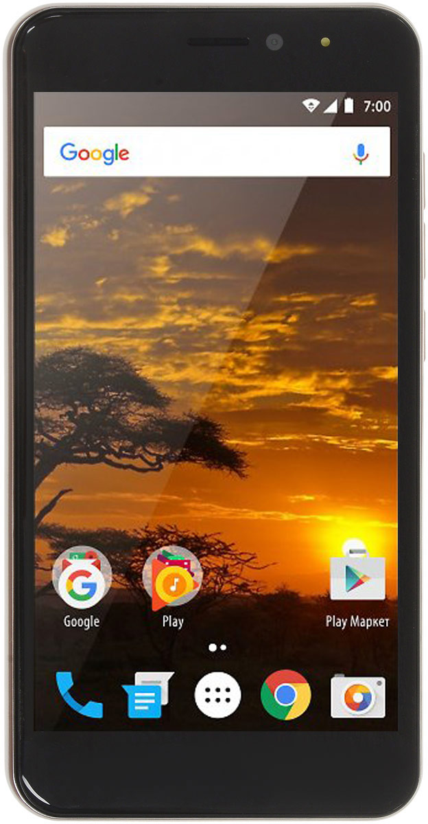 Vertex Impress Lion 3G, GoldLN3G-GLDСмартфон Vertex Impress Lion 3G – функциональный 3G смартфон с супер мощным аккумулятором 4400 мАч.Смартфон Impress Lion 3G оснащен мощнейшим аккумулятором емкостью 4400 мАч. Смартфон работает до 12 часов в режиме разговора и до 320 часов в режиме ожидания! Благодаря чему вы сможете наслаждаться серфингом в интернете, слушать любимую музыку, смотреть фильмы и сериалы, читать книги, играть в игры, общаться с родными и друзьями еще дольше!В смартфоне реализована технология быстрого заряда, благодаря которой даже такой мощный аккумулятор заряжается достаточно быстро: восполнение 80% емкости аккумулятора за 1,5 часа!Благодаря 4-х ядерному процессору модель Impress Lion 3G отлично подходит для решения повседневных задач. Мощность процессора обеспечивает бесперебойную работу операционной системы и установленных приложений. Смартфон оснащен 1 ГБ оперативной памяти и 8 ГБ встроенной, что позволяет эффективно использовать возможности интерфейса: Интернет, игры, приложения, фото и видео съемка, электронные книги и прочие дополнительные smart-функции. Для повышения работоспособности смартфона и увеличения объема памяти можно использовать microSD карты емкостью до 32 ГБ.Смартфон получил новейшую операционную систему Android 7.0 Nougat. Новая ОС стала еще более функциональной и удобной для пользователя. В Android 7.0 появляется ряд дополнительных возможностей и режимов работы, в большей степени ориентированных на пользователя. Операционная система Android 7.0 и сервис Google Play предлагает огромный выбор приложений на любой вкус. Игры, музыка, социальные сети, навигационные карты, фото приложения и многое другое.Наличие двух камер 8 МП и 2 МП дает возможность делать фото, снимать видео, совершать видеозвонки, общаться в Skype и т.д. Дополнительные преимущества основной камеры: светодиодная вспышка.Для того, чтобы вы смогли всегда оставаться на связи модель Impress Lion 3G поддерживает работу двух SIM-карт, активных в режиме ожидания. Благодар