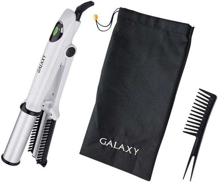 Galaxy GL 4605, White щипцы для завивки волос4630003364418Характеристики: Мощность, Вт: 40.Максимальная температура, °С: 200.Нагревательный элемент с защитой от перегрева.Электронный регулятор температуры.Трехцветный жидкокристаллический дисплей с индикацией температурных режимов (50°С - 200°С).Диаметр барабана, мм: 30.Автоматически вращающийся барабан для бережной укладки волос.Щетка для волос.Расческа.Чехол.Шнур питания, вращающийся на 360°.Напряжение сети, В: 220-240.Частота, Гц: 50.