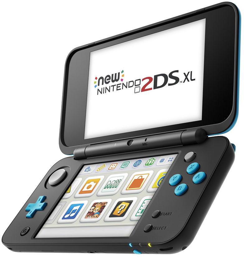New Nintendo 2DS XL, Black Turquoise портативная игровая приставка045496504533New Nintendo 2DS XL (черный + бирюзовый)Встречайте пополнение в семействе Nintendo 3DS – игровую консоль New Nintendo 2DS XL, которая воспроизводит все игры для Nintendo 3DS в 2D. Вас ждет совершенно новая Nintendo 2DS с большим экраном в 4,88 дюйма, которая весит всего 260 грамм.Система обладает такой же вычислительной мощностью, как New Nintendo 3DS XL, и встроенной поддержкой NFC для фигурок и карт amiibo (продаются отдельно). Кроме того, система New Nintendo 2DS XL оборудована стиком C, а также кнопками ZL и ZR, расширяя возможности управления в совместимых играх. Вы сможете играть в 2D во все игры, вышедшие для Nintendo 3DS, New Nintendo 3DS и Nintendo DS.Особенности:Больше вариантов управленияСистема New Nintendo 2DS XL оборудована стиком C, а также кнопками ZL и ZR, расширяя возможности управления в совместимых играх. Стик C улучшает чувствительность управления, реагируя на силу нажатия.Поддержка amiiboОбласть NFC находится на нижнем дисплее. Если вы поставите на него amiibo (продаются отдельно) в совместимых играх, то сможете считывать и записывать данные на amiibo, чтобы расширить игровой процесс!Богатая библиотека игрНа системе New Nintendo 2DS XL можно играть во все игры для Nintendo 3DS и Nintendo DS в режиме 2D, включая игры для New Nintendo 3DS, например, игры Super Nintendo для Виртуальной консоли.Увеличенная вычислительная мощность.Наслаждайтесь повышенной производительностью, которая обеспечивает быструю загрузку файлов и быстрый запуск игр.Расширяемая памятьВы можете легко увеличить память системы с помощью карт microSD, так что у вас всегда будет достаточно места для хранения загружаемых игр.