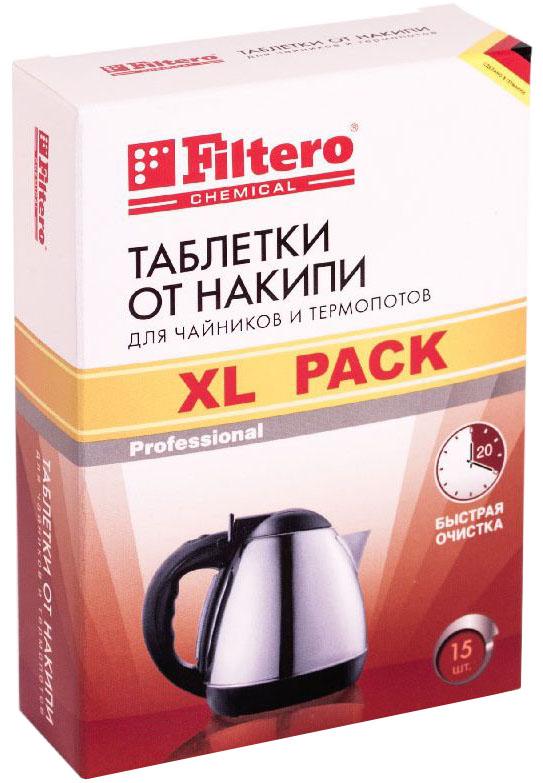 Filtero 609 таблетки от накипи для чайников609Таблетки от накипи Filtero предназначены специально для чайников и термопотов. Улучшенная формула позволяет быстро удалить даже сильно окаменевший известковый налет. Очищение ваших бытовых приборов от накипи и известковых отложений продлевает срок эксплуатации Ваших приборов и предотвращает различные повреждения. Способ применения: наполнить чайник на 3/4 объема водой и вскипятить. Поместить таблетку Filtero в чайник и оставить на 20 минут. При сильном окаменении известкового налета использовать две таблетки. Раствор вылить, оборудование тщательно прополоскать чистой водой.