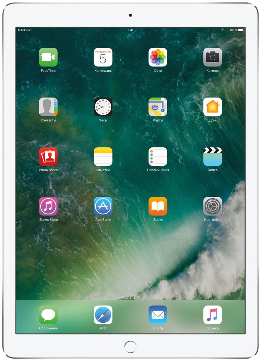 Apple iPad Pro 12.9 Wi-Fi + Cellular 256GB, SilverMPA52RU/AКакая бы задача перед вами ни стояла, iPad Pro готов за неё взяться. Он мощнее многих ноутбуков и при этом гораздо удобнее. Дисплей Retina получил впечатляющие возможности и стал потрясающе быстро отзываться на касания.А ещё на устройстве установлена iOS - самая передовая мобильная операционная система в мире. У iPad Pro есть всё, что вам нужно от современного компьютера. И даже больше.Multi-Touch на iPad всегда производил большое впечатление. А новый дисплей Retina поднимает планку ещё выше. Он не только ярче и отражает меньше бликов. Благодаря новой технологии ProMotion существенно выросла и скорость его отклика. Поэтому неважно, что вы делаете - пролистываете страницу в Safari или играете в ресурсоёмкую 3D-игру, - iPad Pro мгновенно отзывается на каждое касание.Дисплей Retina на новом iPad Pro работает на базе технологии ProMotion, которая поддерживает частоту обновления в 120 Гц. И это невероятно красиво. Фильмы и видео смотрятся просто потрясающе, графика в играх буквально летает - без артефактов и сбоев. А при касании дисплея пальцами или Apple Pencil устройство реагирует молниеносно.Процессор A10X Fusion с 64-битной архитектурой и шестью ядрами обеспечивает вас потрясающей мощью. Вы сможете на ходу обрабатывать видеоролики с разрешением 4K. Делать рендеринг сложных 3D-моделей. Открывать большие документы и добавлять свои зарисовки. Всё очень быстро и легко. При этом iPad Pro по-прежнему будет работать без подзарядки целый день.iOS раскрывает способности iPad, делая его ещё более удобным и полезным устройством. Новые функции системы помогают по-другому взглянуть на решение привычных задач. Многое можно настроить на свой вкус. Так что теперь у вас есть все возможности для покорения новых высот.Невероятная производительность, передовой дисплей, две камеры, сверхскоростная беспроводная связь и аккумулятор на целый день работы - всё это умещается в тонком и изящном корпусе iPad Pro. Поэтому вы можете брать
