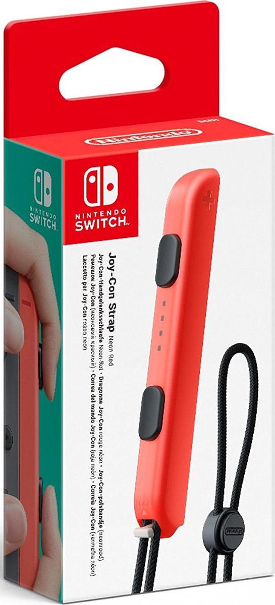 Nintendo, Red ремешок Joy-ConACSWT11Закрепите ремешок Joy-Con на запястье, и вам будет легче держать Joy-Con и комфортнее использовать контроллер в играх. Каждый ремешок Joy-Con совместим как с левым Joy-Con, так и с правым Joy-Con. В комплект входит 1 ремешок Joy-Con
