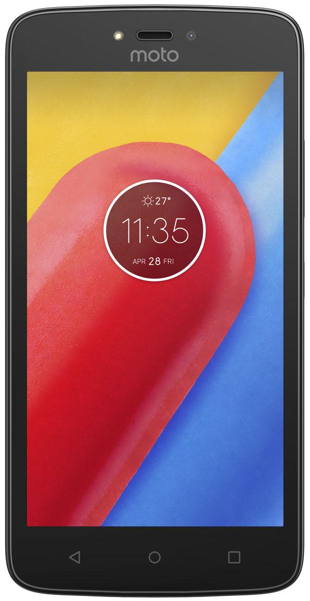 Motorola Moto C, Starry Black (XT1750)PA6J0030RUMotorola Moto C - современный смартфон, который получил мощный четырёхъядерный процессор с частотой 1,1 ГГц и качественный экран с диагональю 5.Устройство обладает двумя камерами с разрешением 5 и 2 Мпикс. Обе снабжены яркими LED-вспышками и светосильными объективами, которые делают фотографии чёткими и контрастными независимо от уровня освещённости. Они могут вести съёмку в режиме HDR, улучшающем цветовую насыщенность кадра, и автоматически повышать качество портретов.Смартфон совместим с высокоскоростными мобильными сетями 3G. Он снабжён модулем GPS, предоставляющим доступ к навигационным сервисам, и адаптером Bluetooth со сниженным энергопотреблением, отлично подходящим для работы со спортивными гаджетами.Смартфон сертифицирован EAC и имеет русифицированный интерфейс меню и Руководство пользователя.