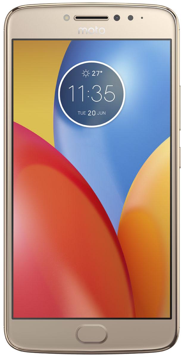 Motorola Moto E4 Plus, Gold (XT1771)PA700073RUMotorola Moto E4 Plus - обновлённая модель, которая получила мощный четырёхъядерный процессор, металлический корпус с элегантными изгибами и большой IPS-экран. Одним из его важнейших преимуществ можно назвать батарею с ёмкостью 5000 мАч, рассчитанную на активное использование устройства в течение двух дней. Она поддерживает технологию быстрой зарядки, поэтому пользователю не придётся тратить много времени на подготовку к различным поездкам и путешествиям. Смартфон получил сканер отпечатка пальца, срабатывающий за доли секунды. Он ограничивает доступ к персональным данным пользователя, а также ускоряет вход в защищённые зоны и позволяет совершать быстрые безопасные платежи. Нанотехническое покрытие корпуса делает смартфон устойчивым к воздействию влаги.Устройство обладает двумя камерами с разрешением 13 и 5 Мпикс. Обе снабжены яркими LED-вспышками и светосильными объективами, которые делают фотографии чёткими и контрастными независимо от уровня освещённости. Они могут вести съёмку в режиме HDR, улучшающем цветовую насыщенность кадра, и автоматически повышать качество портретов.Смартфон совместим с высокоскоростными мобильными сетями 3G и 4G. Он снабжён антенной GPS, предоставляющей доступ к навигационным сервисам, и адаптером Bluetooth со сниженным энергопотреблением, отлично подходящим для работы со спортивными гаджетами.Смартфон сертифицирован EAC и имеет русифицированный интерфейс меню и Руководство пользователя.