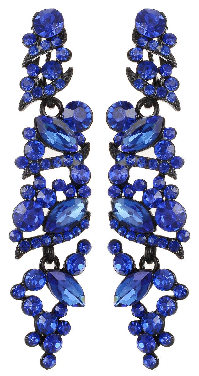 6 Cерьги Флавия от D.Mari. Кристаллы и стразы синего цвета, черный лак, гипоаллергенный бижутерный сплав. ГонконгСерьги-люстрыCерьги Флавия от D.Mari.Кристаллы и стразы синего цвета, черный лак, гипоаллергенный бижутерный сплав.Гонконг.Размеры: 7 х 2 см.