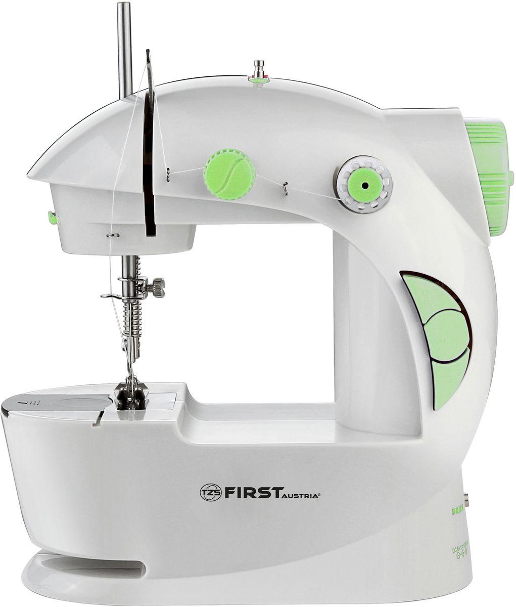 First FA-5700, Green швейная машинаFA-5700 GreenШвейная машинка FIRST 5700 Электропитание : DC 6В, 800 мА / от 4 батареи АА