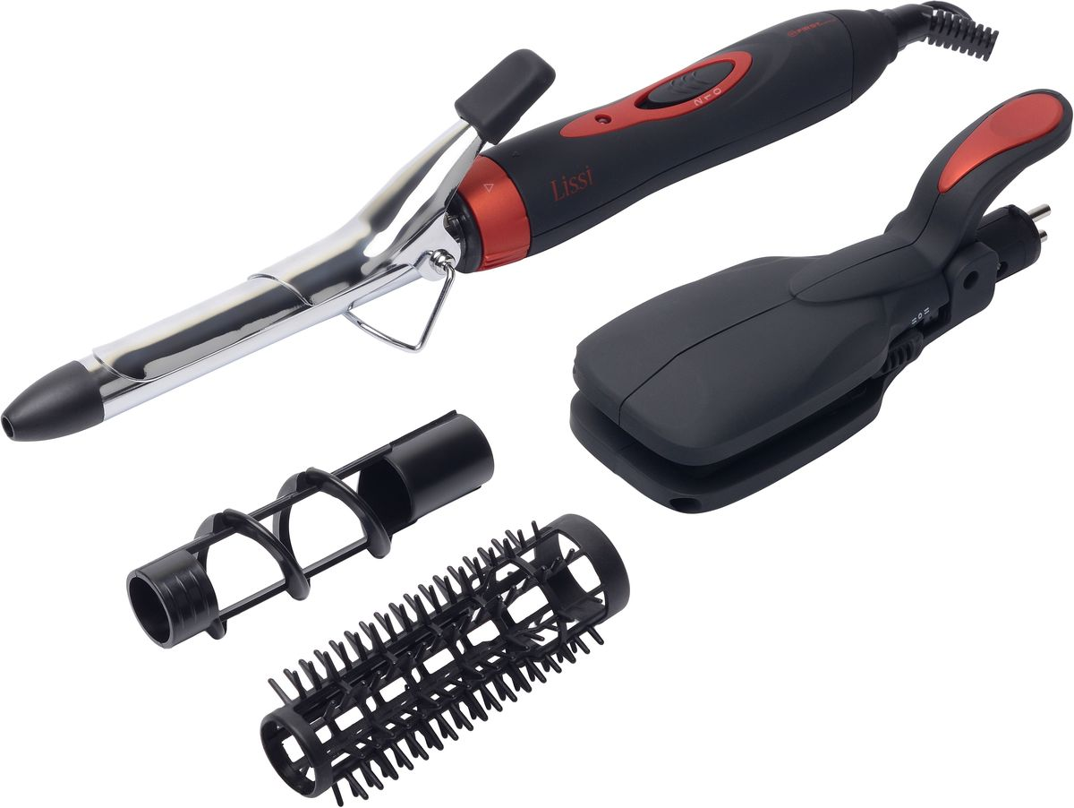 First FA-5669-4-BA выпрямитель для волос 5 в 1FA-5669-4-BAВыпрямитель 5 в 1 FIRST 5669-4-BA , 25 Вт, плойка, 2 щетки
