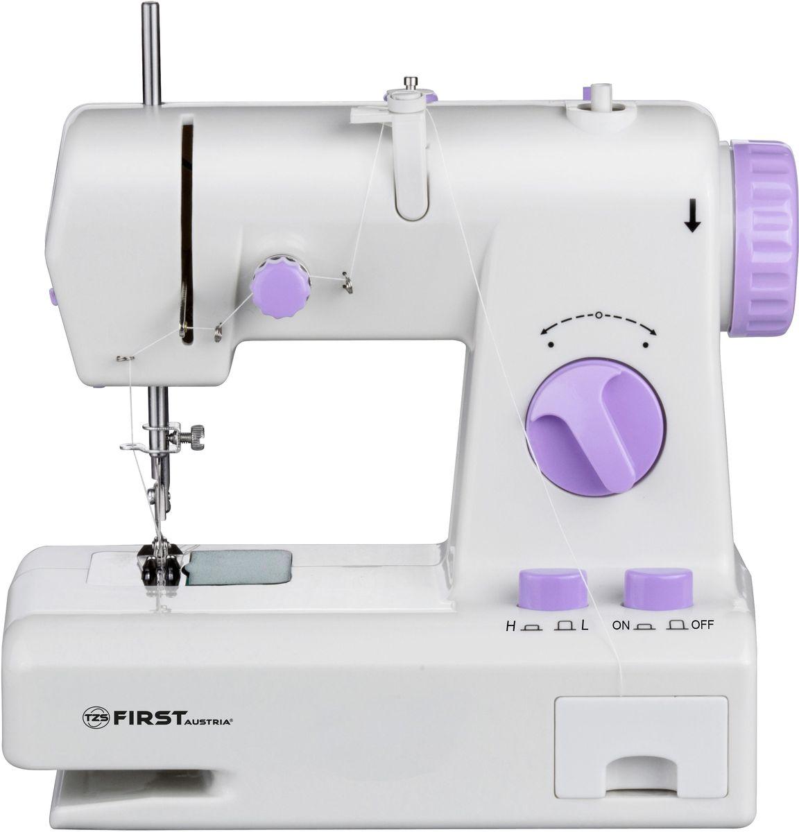 First FA-5700-1, Purple швейная машинаFA-5700-1 PurpleШвейная машинка FIRST 5700-1 Электропитание : DC 6В, 800 мА/ от 4 батареи АА Purple