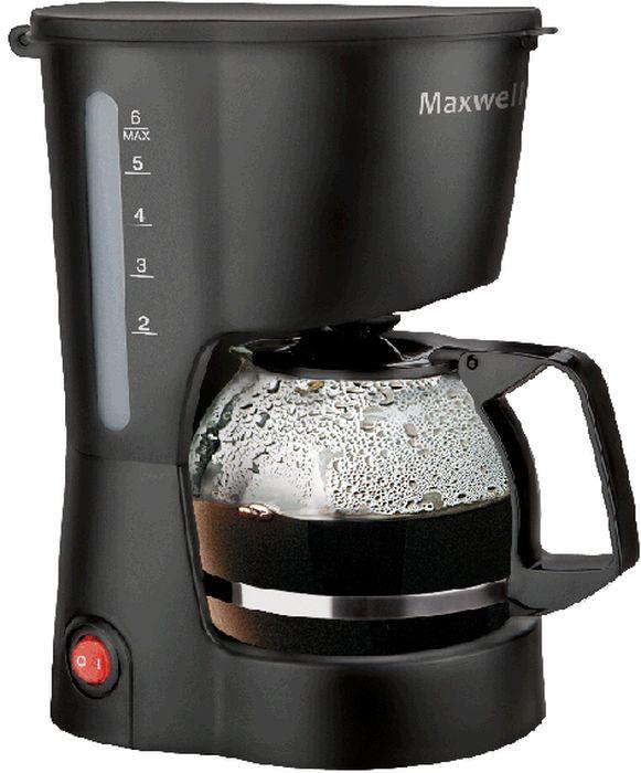 Maxwell MW-1657(BK) кофеваркаMW-1657(BK)Кофеварка Maxwell 1657-MW(BK) (Мощность 600 Вт,Объем колбы: 0,6 мл (4-6 чашек))