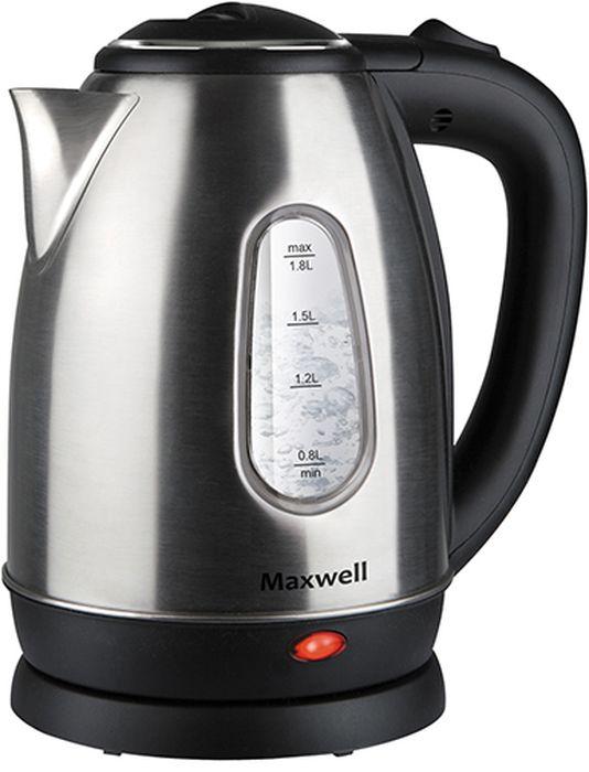 Maxwell MW-1082(ST) чайник электрический шашлычницы maxwell шашлычница maxwell mw 1990 st