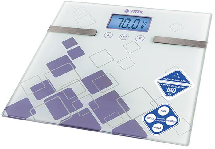 Vitek VT-1984(VT) весы напольныеVT-1984(VT)Весы напольные VITEK 1984(VT) 150 кг., цена деления 100 гр., платформа из заколенног стекла