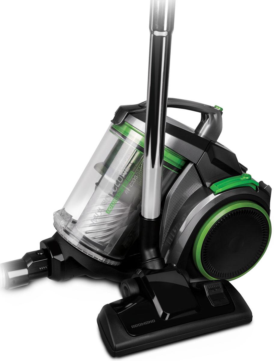 Redmond RV-C333 пылесосRV-C333- Максимальная мощность: 2200 Вт- Очистка контейнера одним нажатием- Технология фильтрации Мультициклон 5+1- НЕРА-фильтр Н13- Объем контейнера для пыли: 3л- Облегченная телескопическая трубка- Парковка трубки для перерыва в работе и хранения- Автоматическая смотка шнура- Длина шнура электропитания: 5 м- Радиус действия: 8 м- Защита от перегрева- Регулировка мощности- Насадки в комплекте: Универсальная щетка с переключателем пол/ковер, Щелевая насадка 2 в 1, Насадка для мягкой мебели