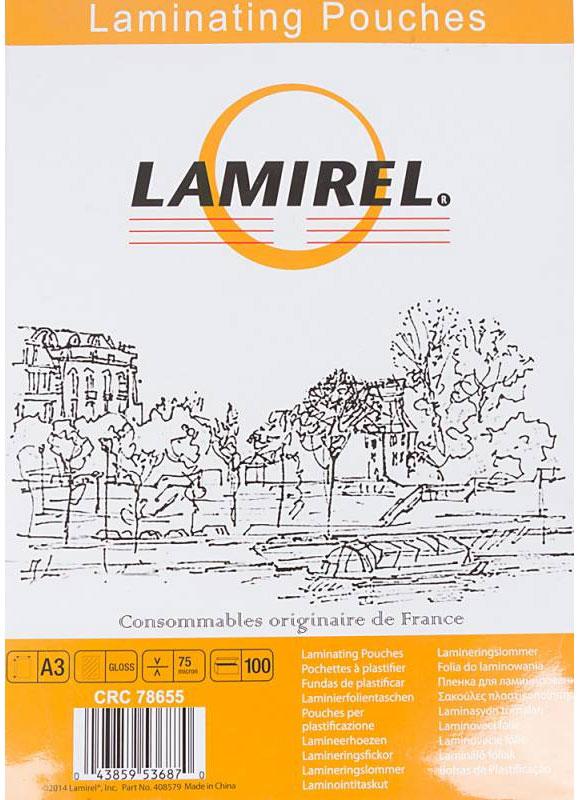 Lamirel А3 LA-78655 пленка для ламинирования, 75 мкм (100 шт)LA-78655Пакетная пленка Lamirel А3 LA-78655 предназначена для защиты документов от нежелательных внешних воздействий. Обеспечивает улучшенную защиту от грязи, пыли, влаги. Документ дополнительно получает жесткость на изгиб и защиту от механического воздействия и потертостей. Идеально подходит для интенсивной эксплуатации.Глянцевое покрытие улучшает внешний вид документа: краски становятся глубже, ярче и контрастнее.