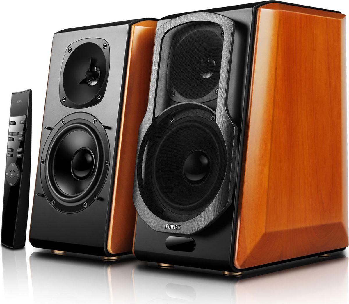 Edifier S2000 Pro акустическая системаS2000 ProКолонки Edifier S2000 Pro RMS 12Вт ? 2 (ВЧ) + 50Вт ? 2 (СЧ-НЧ), PC / AUX / оптический / коаксиальный, Поддержка Bluetooth: версия 4.0