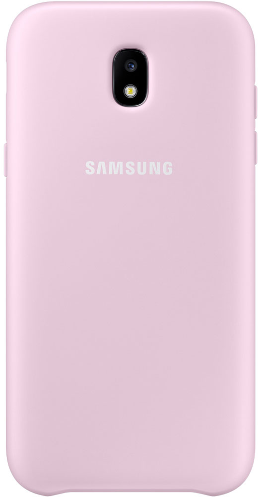 Samsung Dual Layer Cover чехол для Galaxy J5 (2017), PinkEF-PJ530CPEGRUЧехол Samsung Dual Layer Cover изготовлен из эластичного полиуретана. Он защищает смартфон от воды, пыли и грязи, а также поглощает ударные нагрузки, предотвращая повреждение чувствительной электроники.Аксессуар слегка выступает над поверхностью дисплея, не допуская его соприкосновения с твёрдыми предметами. Благодаря этому экран всегда остаётся гладким и чистым, сохраняя отличную видимость изображения.Пользователь в любой момент может сделать снимок, подзарядить аккумулятор или совершить звонок. В поверхности чехла предусмотрены специальные вырезы для камеры, кнопок и других функциональных элементов.