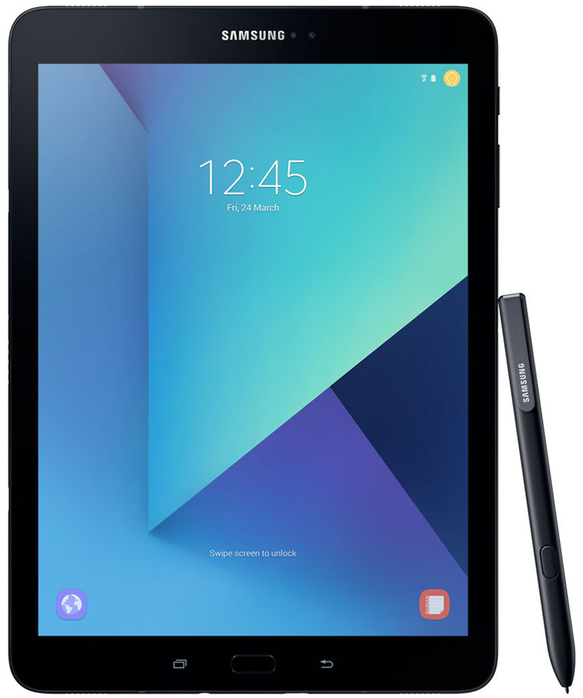 Samsung Galaxy Tab S3 9.7 SM-T820, BlackSM-T820NZKASERОткройте для себя роскошный и уникальный дизайн Samsung Galaxy Tab S3, сочетающий в себе металл и стекло, свойственный флагманам Galaxy. Глянцевое стекло на задней поверхности демонстрирует богатство глубины цвета, создавая тем самым современный внешний вид, который дополняется крепким и прочным металлом.Просматривайте видео в режиме HDR на высококонтрастном и ярком Super AMOLED дисплее Galaxy Tab S3, а четыре динамика, настроенные AKG, подарят объемный звук, создав атмосферу полного погружения.Мощный процессор Snapdragon 820 и 4 ГБ оперативной памяти позволят Вам с легкостью выполнять сложные задачи, обеспечивают работу с несколькими приложениями одновременно, возможность играть в самые современные игры. Высококонтрастный экран Super AMOLED обеспечивает точную передачу всего цветового диапазона.Куда бы вы ни пошли, Galaxy Tab S3 заполнит ваше пространство высококачественным звуком. Это первый планшет Samsung с четырьмя адаптивными динамиками, благодаря которым вам будет доступен многоканальный звук, даже на ходу. Усовершенствованная система динамиков подарит вам богатый звук абсолютно из любого положения планшета. Если вы перевернули планшет - звуковой поток также перераспределится на другие колонки. Таким образом, звук всегда соответствует картинке.Вместе с опытными специалистами австрийского производителя аудиоакустики - компании AKG - мы обеспечили чистейший звук профессионального качества, благодаря чему вы получите еще больше незабываемых впечатлений от работы с планшетом.Функция Galaxy Game Launcher оптимизирована для экрана планшета Galaxy Tab S3 и включает такие опции, как Режим энергосбережения, Запись игры с возможностью загрузки в сеть, Игра без звука и опцию Поддержка текущих вызовов. Добавьте к существующей графике возможности Vulkan API по поддержке 3D графики, а также многочисленные игры из коллекции Galaxy Game Pack, и вы получите развлечения в режиме non-stop.Новый S Pen выглядит и работает, как