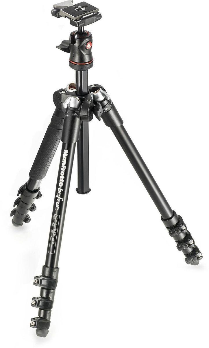 Manfrotto MKBFRA4-BH, Black штативMKBFRA4-BHBefree — новый современный штатив, созданный для фотографа, которые любят путешествовать. Компактный, легкий и портативный Befree — идеальный попутчик в поездках. Высококачественный штатив, которая помещается в ручной багаж и рюкзаки; это — воплотившаяся мечта любого путешествующего фотографа. Благодаря уникальному механизму ноги прекрасно складываются вокруг головки и крепления быстросъемной площадки. В закрытом состоянии его длина всего 40 см. Прочность и качество не принесены в жертву небольшому размеру и портативности. Manfrotto Befree обеспечивает получение резких изображений, сохраняя надежную фиксацию камеры в нужном положении. Его новая алюминиевая шаровая головка прочна, быстра и проста в работе. Максимальная нагрузка Manfrotto Befree 4 кг, что гарантирует устойчивость и надежность даже с длинными зум-объективами. Новые запатентованные селекторы угла расстановки ног позволяют быстро выбрать нужное положение, обеспечивая максимальную универсальность расположения камеры. Благодаря итальянскому дизайну и отделке премиум-класса штатив Befree выделяется из толпы. Прекрасный аксессуар для выражения индивидуального стиля каждого фотографа.