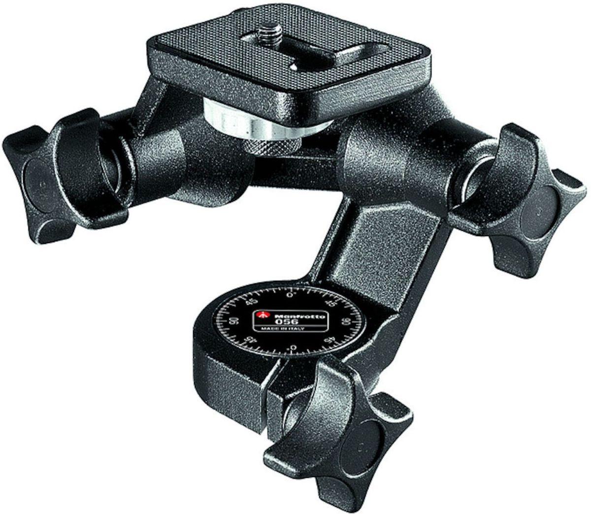 Manfrotto 56, Black штативная головка056Фиксирующая система на саморегулирующихся конических подшипниках обеспечивает вращение на 360° как в вертикальной, так и в горизонтальной плоскостях. Идеальная головка для 35-мм оборудования, легких и среднеформатных камер. Крепление камеры: 1/4. Опциональные площадки: 625, 323, 394, 357, 577.