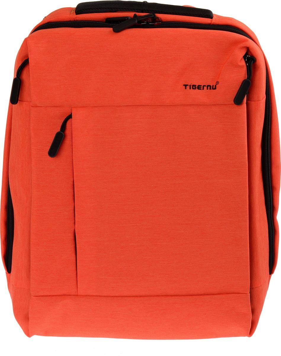 Tigernu T-B3269, Orange рюкзак для ноутбука 14T-B3269Городской рюкзак Tigernu T-B3269, выполненный в стиле кэжуал, станет оптимальным выбором для молодых людей и девушек. Модная, простая и удобная модель 2017 года рассчитана на хранение и перенос различных вещей, поэтому подходит для студентов, офисных работников, путешественников и всех, кто ведет активный образ жизни.Рюкзак выполнен из прочного материала Оксфорд, который устойчив к промоканию и механическим повреждениям. Модель оснащена дополнительным и основным отделением, а также многочисленными карманами и отсеком для ноутбука, который расположен отдельно. Особую привлекательность Tigernu T-B3269 придает квадратная форма корпуса и логотип, вышитый на фронтальной части.Комфорт использования рюкзака обеспечивают:• широкие, мягкие лямки, которые регулируются по объему;• спинка анатомически правильной формы, выполненная из дышащего материала;• качественная фурнитура, в том числе прочные молнии.Модель объемом 18 литров, оснащена USB-портом, используемым для зарядки телефона. С ее помощью вы всегда будете на связи с друзьями и родными людьми.
