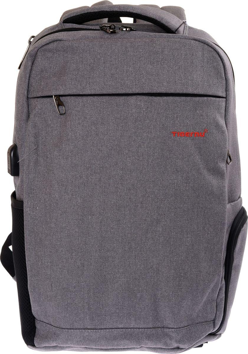 Tigernu T-B3217, Grey рюкзак для ноутбука 14T-B3217Городской рюкзак Tigernu T-B3217, выполненный в урбанистическом стиле — это ваш незаменимый спутник в путешествиях, работе и учебе. Где бы вы ни были, необходимые вещи всегда будут под рукой. Ноутбук, планшет, телефон, документы и деньги, а также другие предметы можно удобно разместить в основном и дополнительном отделениях, а также фронтальном и боковых карманах. USB-порт, расположенный на корпусе, позволяет легко соединить смартфон с Power Bank и зарядить гаджет.Текстильный материал, используемый в производстве Tigernu T-B3217, защищает его содержимое от намокания и механических повреждений. Шесть причин приобрести эту модель:• мягкие, регулируемые по высоте, плечевые лямки и анатомическая форма спинки;• двойная прочная молния с защитой от воров;• дышащий трехслойный материал спинки и лямок;• защита дна от износа и загрязнений;• подкладочная ткань из полиэстера, обеспечивающая дополнительную защиту от промокания;• большой объем основного отделения. За счет особенностей дизайна рюкзак хорошо держит форму. Кроме того, на фронтальной стороне изделия расположен вышитый логотип производителя, который служит дополнительным подтверждением качества Tigernu T-B3217.