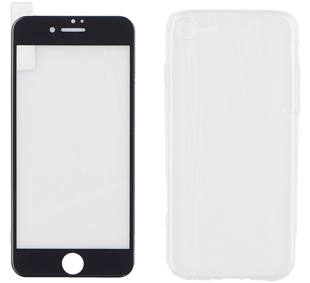 Remax Tempered Glass Suit защитное стекло для Apple iPhone 7, Black - Защитные стекла и пленки